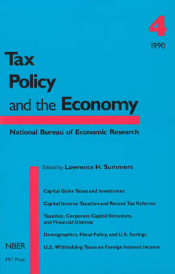 Tax Policy and the Economy: Volume 4 - Tax Policy and the Economy (Paperback)