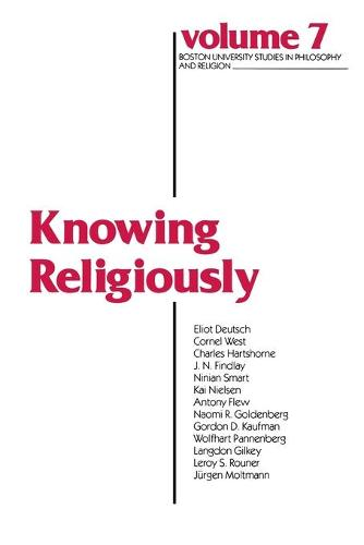 Knowing Religiously - Boston University Studies in Philosophy and Religion (Paperback)