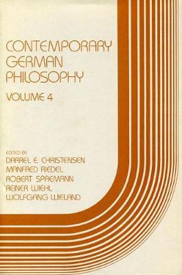Contemporary German Philosophy: v. 4 (Hardback)