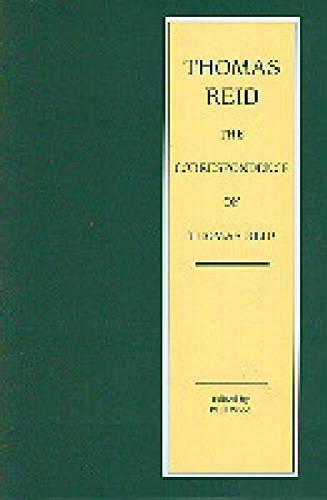 The Correspondence of Thomas Reid - Edinburgh Edition of Thomas Reid 4 (Hardback)