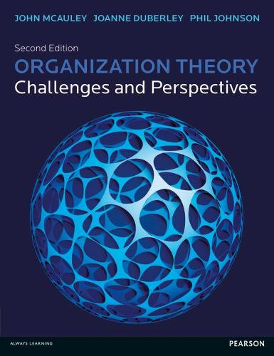Organization Theory: Challenges and Perspectives (Paperback)