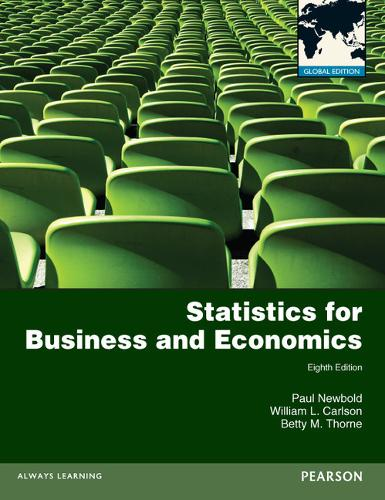 Statistics for Business and Economics with MyMathLab Global XL: Global Edition