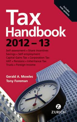 Zurich Tax Handbook 2012-13 (Hardback)