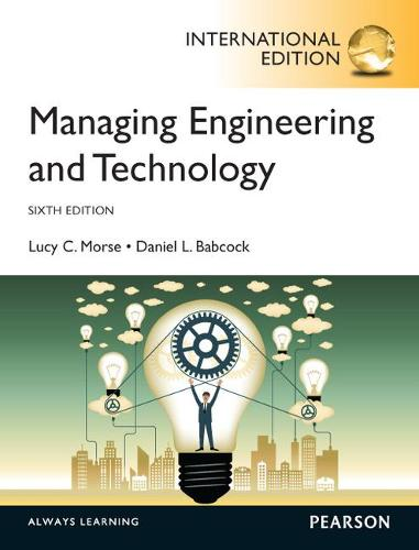 Managing Engineering and Technology, International Edition (Paperback)