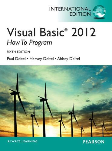 Visual Basic 2012 How to Program, International Edition