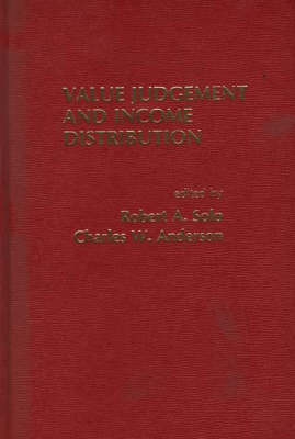Value Judgement and Income Distribution (Hardback)