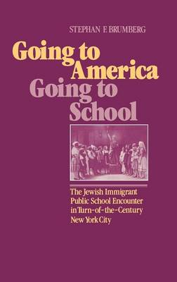 Going to America, Going to School: The Jewish Immigrant Public School Encounter in Turn-of-the-Century New York City (Hardback)