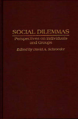 Social Dilemmas: Perspectives on Individuals and Groups (Hardback)