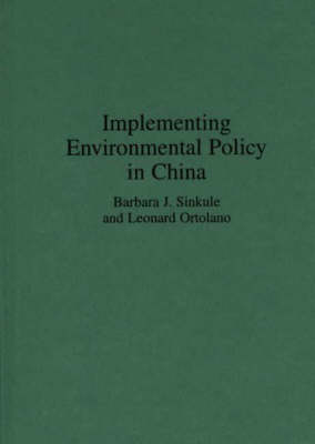 Implementing Environmental Policy in China (Hardback)