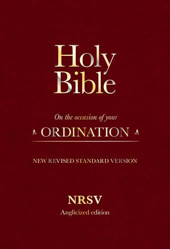 Holy Bible New Standard Revised Version: On the Occasion of Your Ordination (Leather / fine binding)
