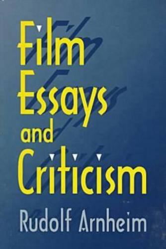 Film Essays and Criticism - Wisconsin Studies in Film (Paperback)