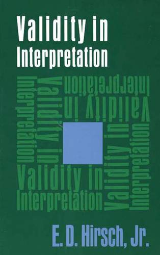 Validity in Interpretation (Paperback)