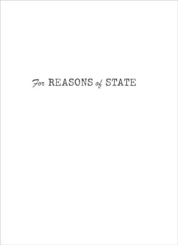 For Reasons of State - Independent Study Program (Paperback)