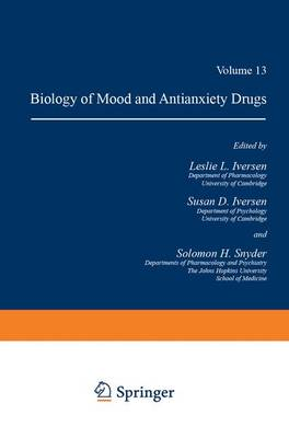 Handbook of Psychopharmacology: Volume 13: Biology of Mood and Antianxiety Drugs (Hardback)