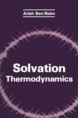 Solvation Thermodynamics (Hardback)