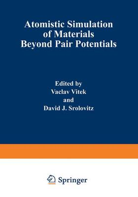 Atomistic Simulation of Materials: Beyond Pair Potentials (Hardback)