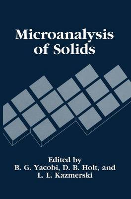 Microanalysis of Solids (Hardback)