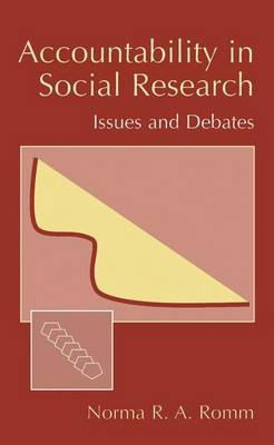 Accountability in Social Research: Issues and Debates (Hardback)