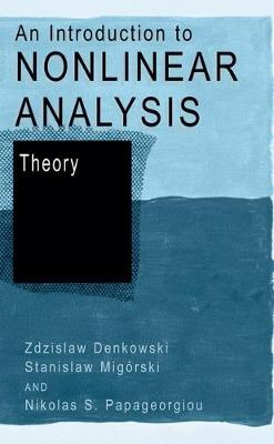 An Introduction to Nonlinear Analysis: Theory (Hardback)