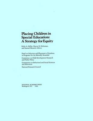 Placing Children in Special Education: A Strategy for Equity (Paperback)