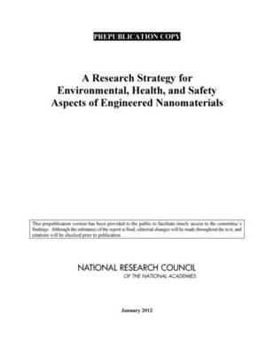 A Research Strategy for Environmental, Health, and Safety Aspects of Engineered Nanomaterials (Paperback)
