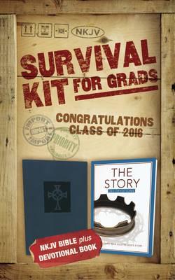 NKJV, 2016 Survival Kit for Grads, Purple, Red Letter Edition: NKJV Bible plus Devotional Book, The Story Devotional (Hardback)