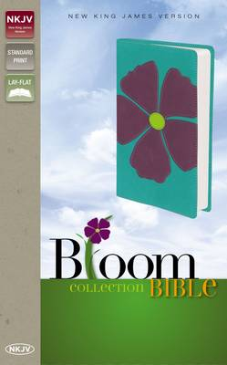 NKJV, Bloom Collection Bible, Leathersoft, Purple, Red Letter Edition (Leather / fine binding)