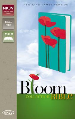 NKJV, Bloom Collection Bible, Compact, Leathersoft, Red/Turquoise, Red Letter Edition (Leather / fine binding)