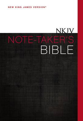 NKJV, Note-Taker's Bible, Hardcover, Red Letter Edition (Hardback)