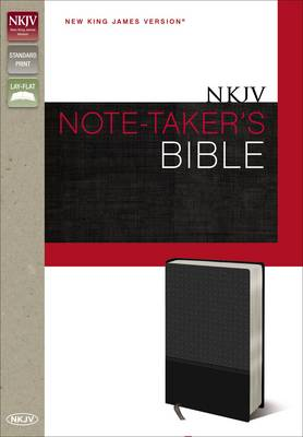 NKJV, Note-Taker's Bible, Imitation Leather, Gray, Red Letter Edition (Leather / fine binding)
