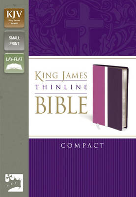 KJV, Thinline Bible, Compact, Imitation Leather, Pink/Purple, Red Letter Edition (Leather / fine binding)