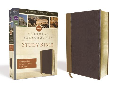 NRSV, Cultural Backgrounds Study Bible, Leathersoft, Tan/Brown, Comfort Print: Bringing to Life the Ancient World of Scripture (Leather / fine binding)