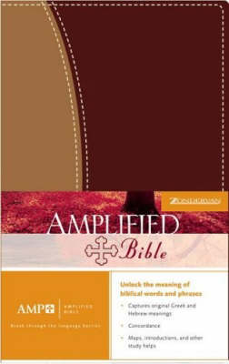 Bible Amplified Duo-tone Burgundy/tan (Leather / fine binding)