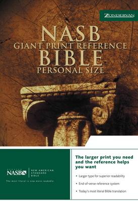 NASB Reference Bible: Personal size (Leather / fine binding)