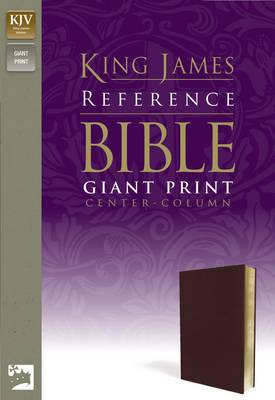 KJV, Reference Bible, Giant Print, Imitation Leather, Burgundy, Red Letter Edition (Leather / fine binding)