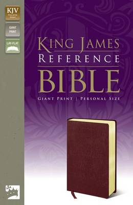 KJV, Reference Bible, Giant Print, Personal Size, Bonded Leather, Burgundy, Red Letter Edition (Leather / fine binding)