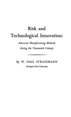 Risk and Technological Innovation: American Manufacturing Methods During the Nineteenth Century (Hardback)