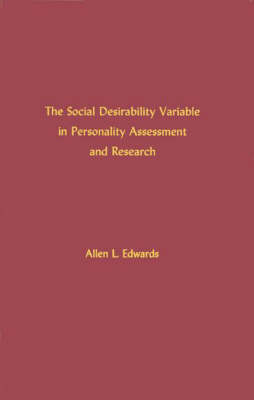 The Social Desirability Variable in Personality Assessment and Research (Hardback)