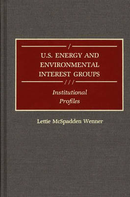 U.S. Energy and Environmental Interest Groups: Institutional Profiles (Hardback)