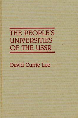 The People's Universities of the USSR (Hardback)