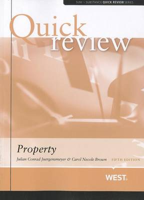Sum and Substance Quick Review on Property - Quick Review Series (Paperback)