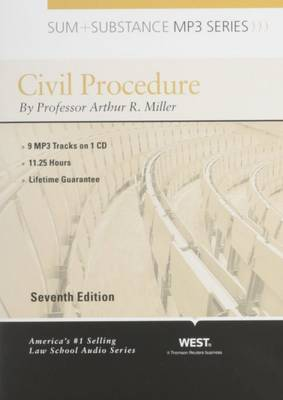 Sum and Substance Audio on Civil Procedure - Sum and Substance (CD-ROM)
