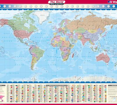 Miller World Wall Map - OS Wall Map Sheet 1 (Sheet map, flat)