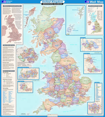 United Kingdom Administrative - OS Wall Map Sheet 7 (Sheet map, flat)
