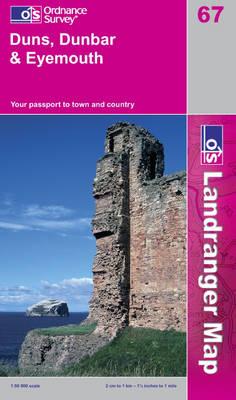 Duns, Dunbar and Eyemouth - OS Landranger Map Sheet 67 (Sheet map, folded)