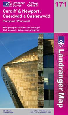Cardiff and Newport, Pontypool - OS Landranger Map Sheet 171 (Sheet map, folded)