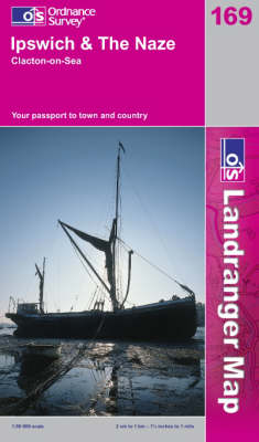 Ipswich and the Naze, Clacton-on-Sea - OS Landranger Map Sheet 169 (Sheet map, folded)