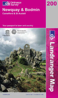 Newquay and Bodmin, Camelford and St.Austell - OS Landranger Map Sheet 200 (Sheet map, folded)
