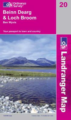Beinn Dearg and Loch Broom, Ben Wyvis - OS Landranger Map Sheet 20 (Sheet map, folded)