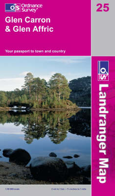 Glen Carron and Glen Affric - OS Landranger Map Sheet 25 (Sheet map, folded)
